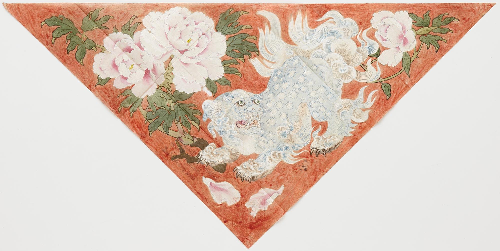 下図 獅子牡丹紋打敷 / 明治32(1899)年